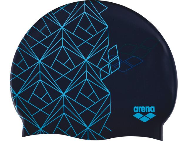 arena Print 2 Swimming Cap escher blue